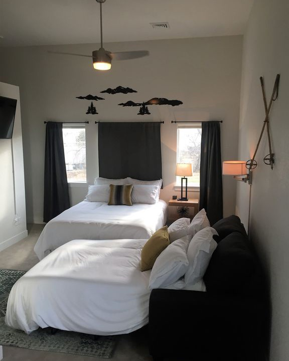 Master bedroom black out shades